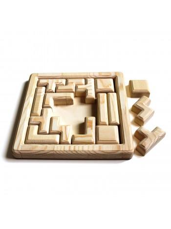Деревянная игра головоломка (неокрашенная) - Тетрис Купить