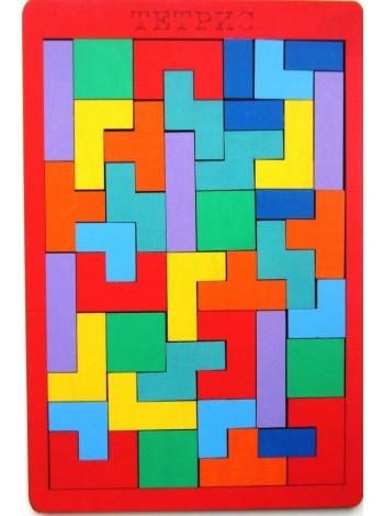 Деревянная игра головоломка, пазл, 40 деталей - Тетрис Купить