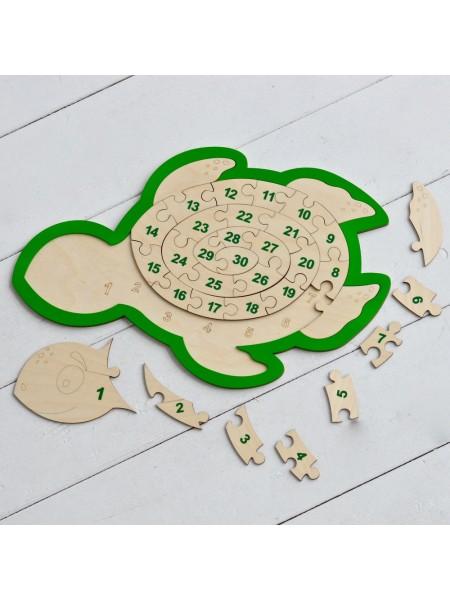 Пазл Черепаха-Цифры - Радуга Кидс