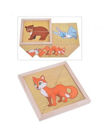 Деревянные Пазлы Собери картинку в коробке вид 2 купить