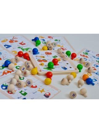 Мозаика деревянная 19 карточек Радуга кидс