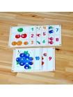Мозаика деревянная 19 карточек Радуга кидс купить