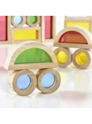 """Rainbow blocks Конструктор Радужные блоки, """"Сенсорика"""",  Зеркальные блоки"""