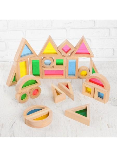 Радужные блоки (Rainbow blocks) - Сенсорный конструктор