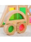 Радужные блоки (Rainbow blocks) - Сенсорный деревянный конструктор купить