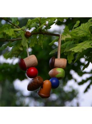 """Шнуровка """"Белочкины припасы"""" (Натуральное дерево)"""