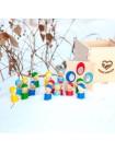 Сортер в коробочке «Разноцветные человечки», Леснушки (Натуральное дерево) купить