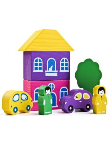 Конструктор Цветной городок, 8 деталей купить