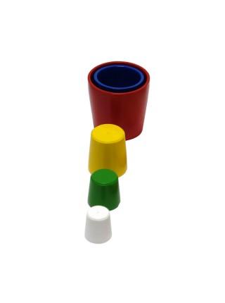 Пирамидка Цилиндрики стакан 5 в 1, цветная Д-046