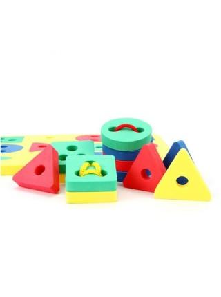 Игра-шнуровка «Геометрические фигуры 30 шт»