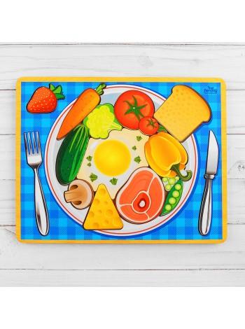 Головоломка рамка-вкладыш Завтрак купить