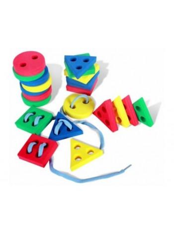 Игра-шнуровка «Геометрические фигуры 30 шт» купить
