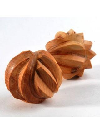 Тактильные можжевеловые шарики рифленые