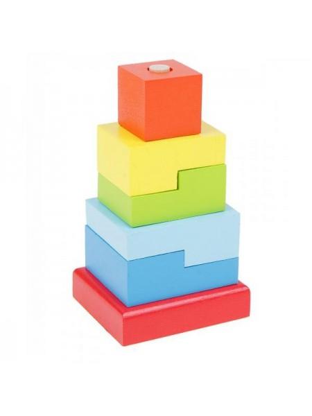 Пирамидка Alatoys Ступеньки (6 деталей) ПСТ03