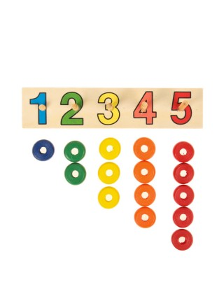"""Пирамидка логическая """"Учимся считать"""" с цифрами"""