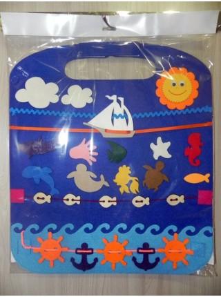 Коврик - игралка в дорогу Море, Smile Decor Ф003