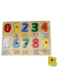 """Рамка-вкладыш, цифры от """"0"""" до """"9"""" и название цифр, 10 элементов"""