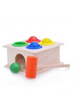 Стучалка квадратная с 4 шариками и молоточком