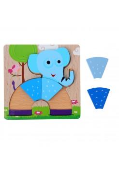 """Рамка-вкладыш """"Слоненок в форме радуги"""", 5 элементов"""