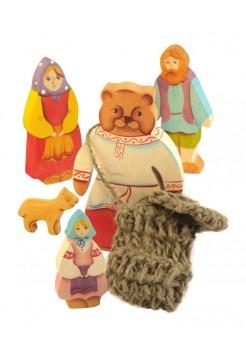 Маша и медведь (5 фигур) Сказки дерева 10009