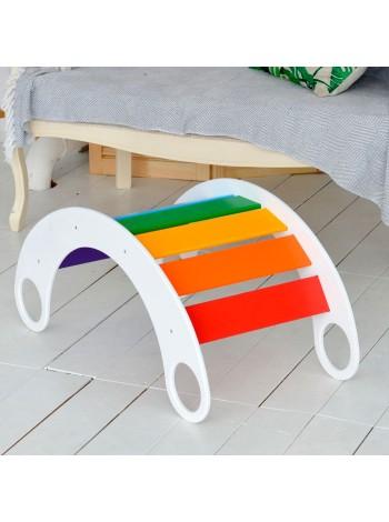 Деревянная качалка мостик детская Радуга, купить