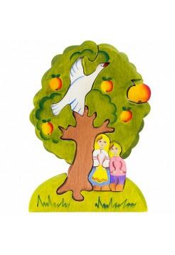 Пазл Гуси-лебеди яблоня, Сказки Дерева 08023