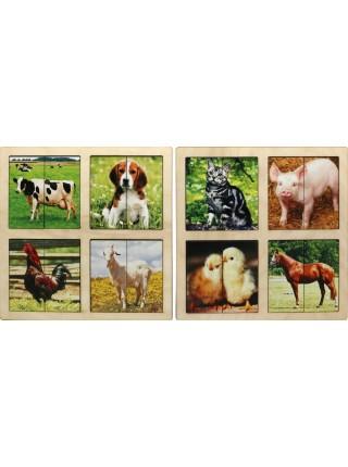 Картинки-половинки Домашние животные (2 планшета) Smile Decor