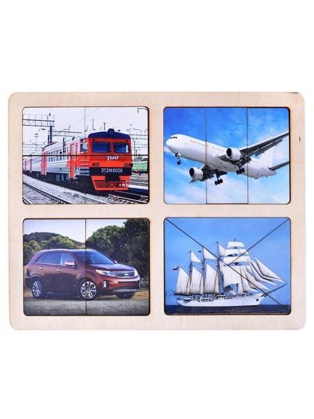 Разрезные картинки Транспорт Smile Decor, Р013