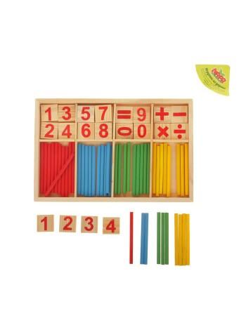 Счётные палочки, цифры и знаки, 72 элемента купить