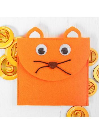 Кошелек с монетами Котик, купить