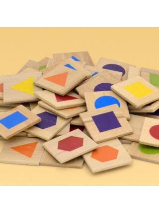 Мемори «Цветная геометрия» в мешочке, Царицынская игрушка CI-ME010