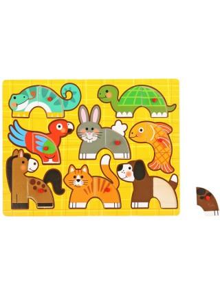 """Рамка-вкладыш """"Сложи животных"""" 8 элементов"""