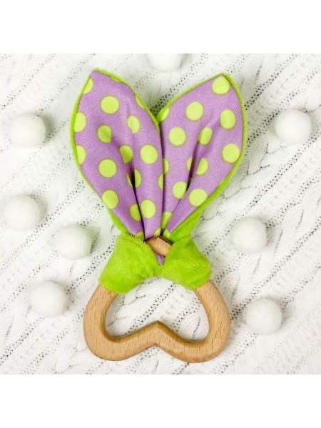 """Игрушка-грызунок Для малышей, форма """"Сердце"""""""