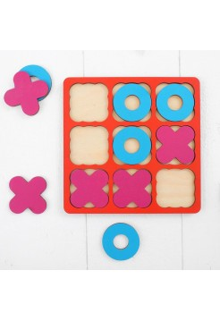 Рамка-вкладыш «Крестики - нолики», 10 элементов WoodLand Toys