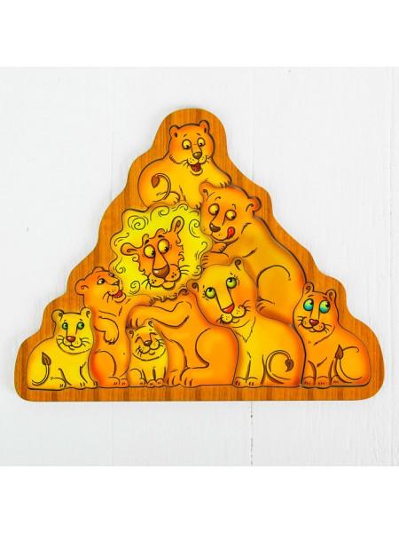 Головоломка львы, Smile Decor П034
