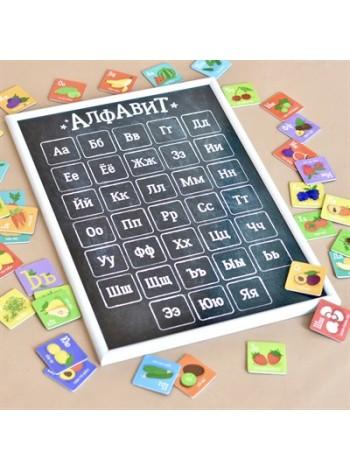 Игра магнитный алфавит «Что мы едим?» купить