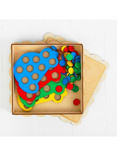 """Мозаика """"Машины"""", 4 машины, 40 кружков SmileDecor П025"""