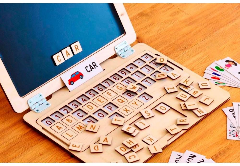 """Как выучить буквы и алфавит с ребенком? Поможет """"Деревянный ноутбук"""""""