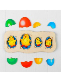 "Развивающий пазл ""Цыплята-ребята"" Smile Decor П016"