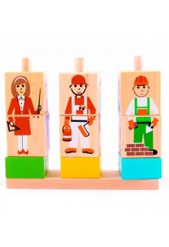 Кубики на палочке Профессии, Томик 4545-5
