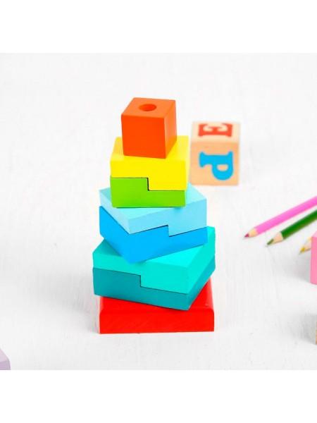"""Пирамидка """"Ступеньки"""", 8 элементов Alatoys ПСТ02"""