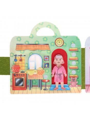 Сумка-игралка из фетра Кукольный домик купить