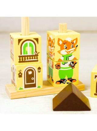 Кубики на палочке Лисенок, Томик 4545-1