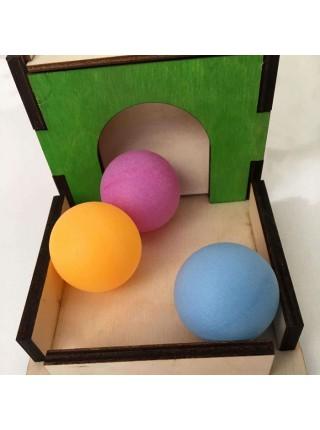 Коробочка-горка с шариками Монтессори