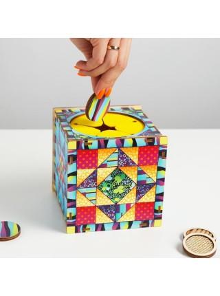 """Тактильный куб """"Парочки"""" (сенсорный ящик), Smile-Decor, П617"""