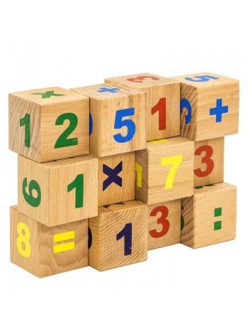 Деревянные Кубики Цифры (12 шт.) купить