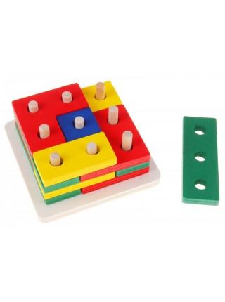 Логическая головоломка квадрат Тетрис