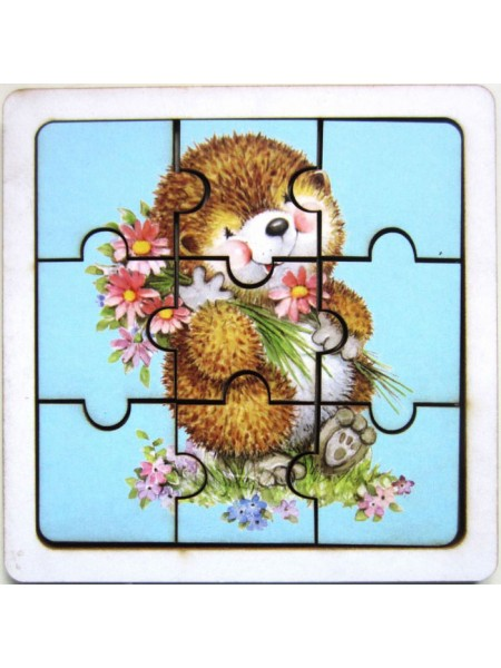 Пазл Ежик с цветами, Smile Decor П010