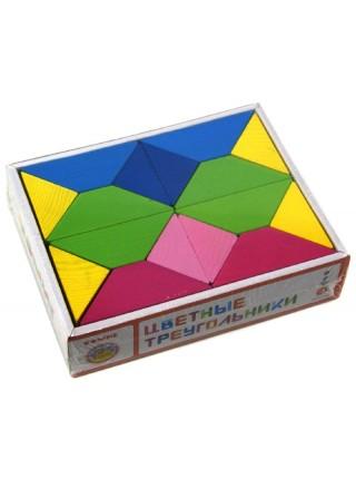 Кубики Цветные треугольники Томик 6677