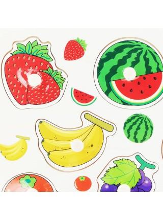 Рамка-вкладыш Подбери картинку Ягоды-фрукты